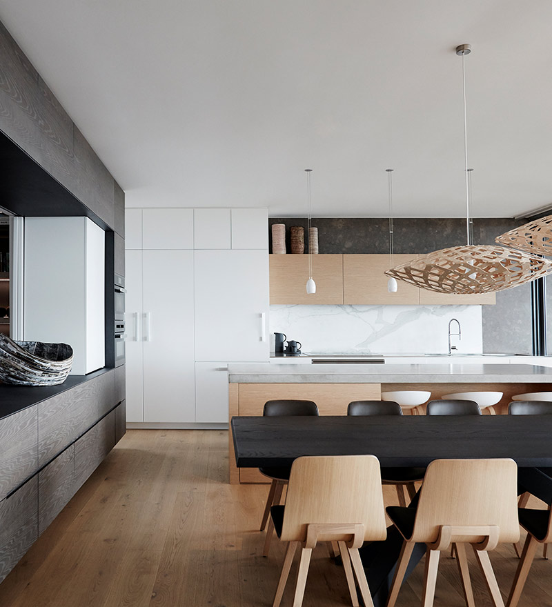 Contemporary casual dining room design by Hare + Klein