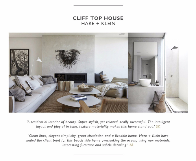 WIN Jury Comments for Cliff Top House