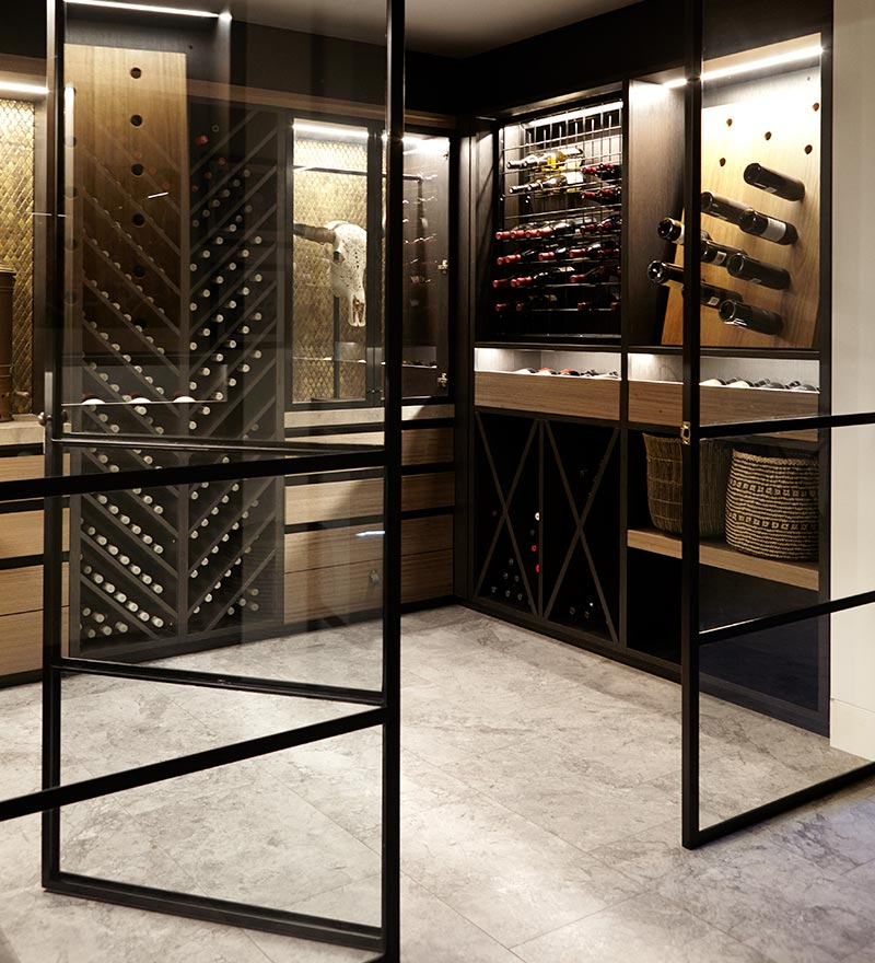 Wine Cellar - Hilltop Harbour by Hare + Klein Interior Design