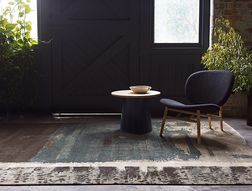 Palimpsest - Hand-knotted rug designed by Hare + Klein for Designer Rugs