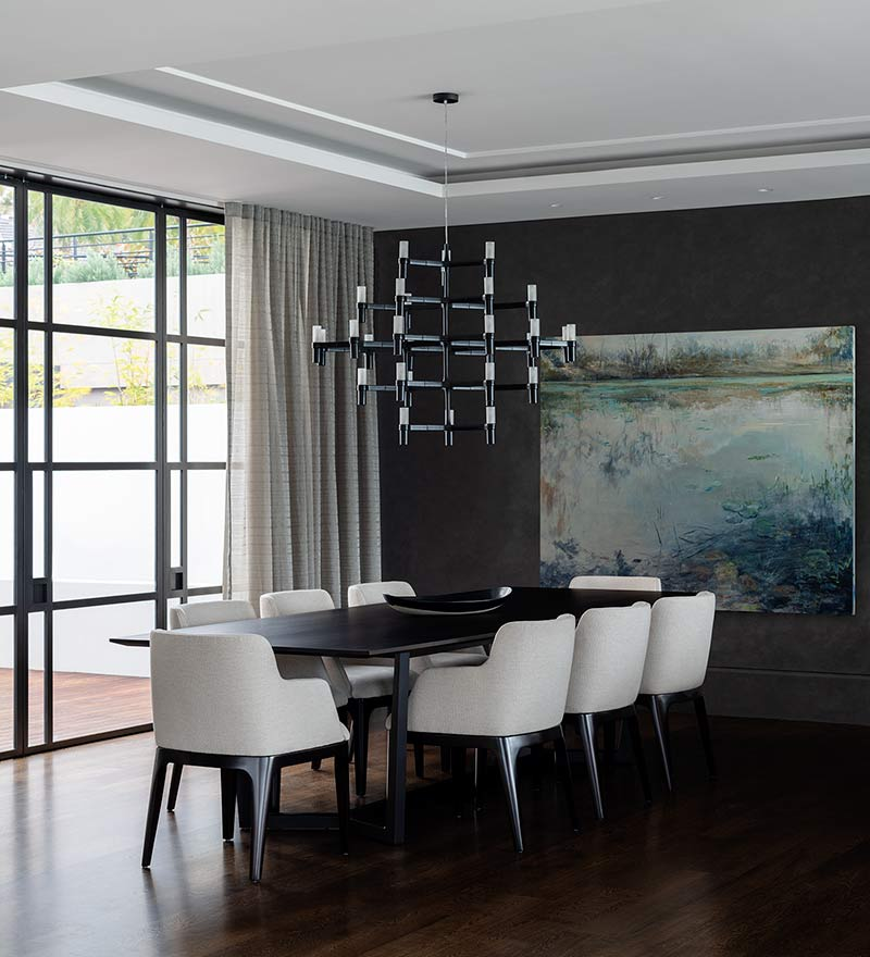 Tranquil Bay Hare + Klein Dining Room
